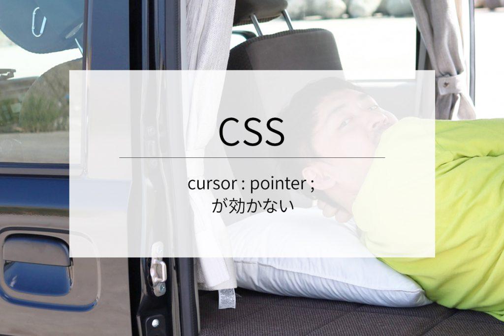 CSSのcursor : pointer ; が効かない