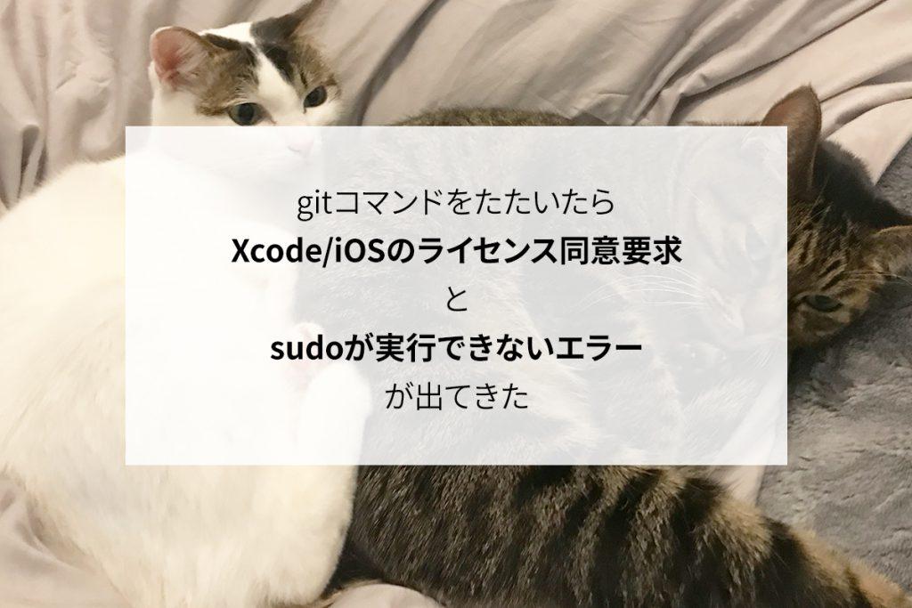 【解決済】gitコマンド実行でXcode/iOSのライセンス同意要求とsudoが実行できないエラーが出てきた